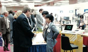 Michael Westfall at Robotic Show in COBO Hall